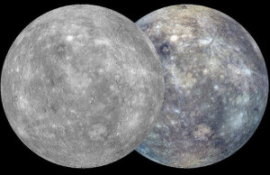 Mercury composite imaages from Messenger