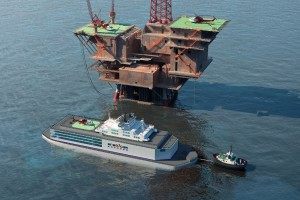 China Floating NPP at oil platform