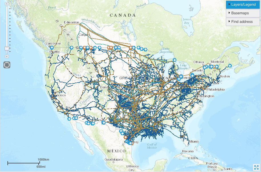 Critical Infrastructure Oil And Gas Pipelines The Lyncean Group - Map of us oil pipelines