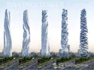 Da Vinci rotating-tower Dubai